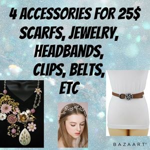 4 accessories for 25$